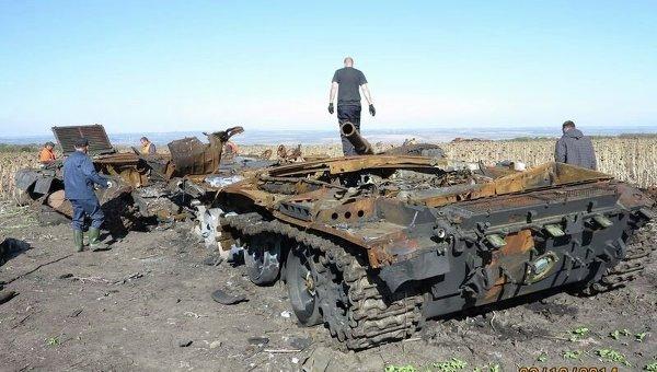 Военная техника боевых столкновений в Иловайске