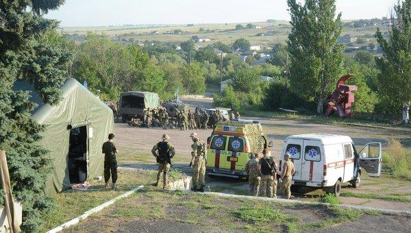 Ситуация под Старогнатовкой Донецкой области