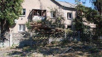 Последствия артобстрела в Иловайске Донецкой области
