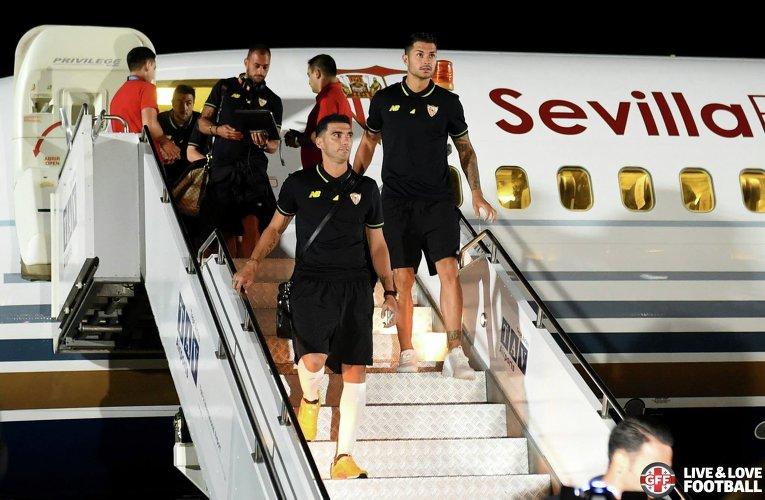 Игроки Севильи прибыли в Тбилиси, где 11 августа пройдет матч за Суперкубок УЕФА