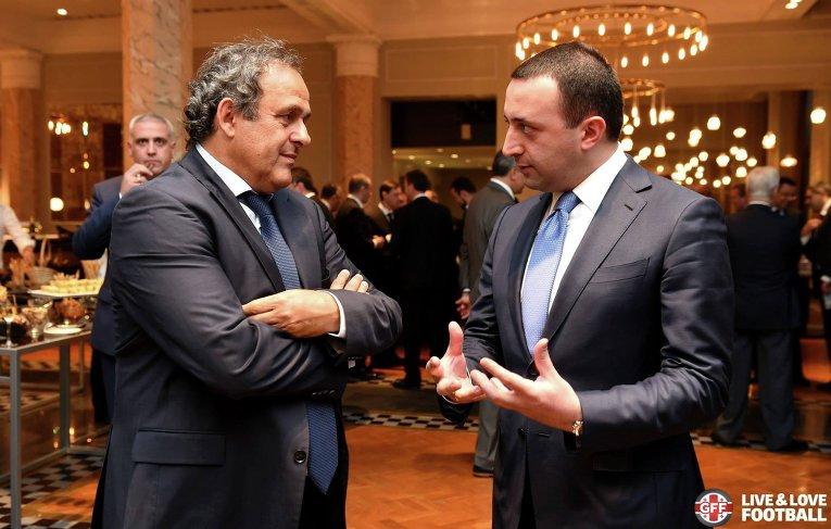 Президент УЕФА Мишель Платини в Тбилиси, где 11 августа пройдет матч за Суперкубок УЕФА