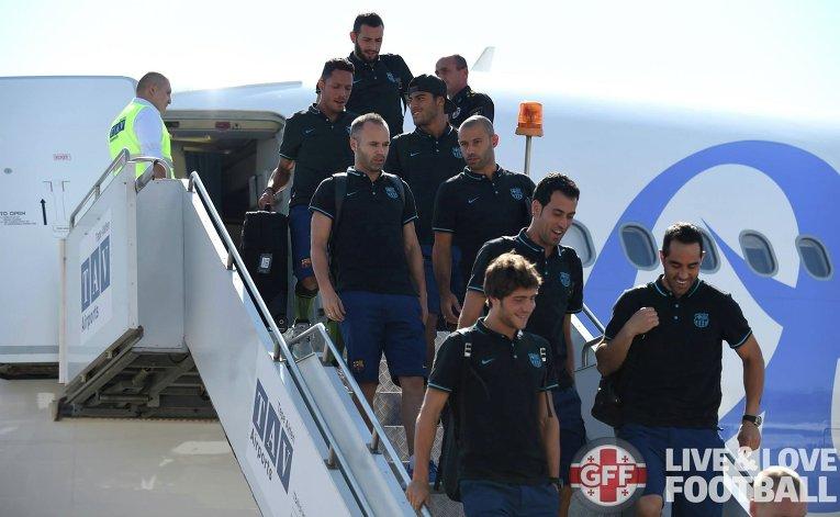 Игроки Барселоны прибыли в Тбилиси, где 11 августа пройдет матч за Суперкубок УЕФА