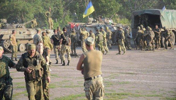Украинские военные в районе Старогнатовки