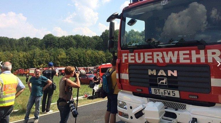 Истребитель разбился на юге Германии