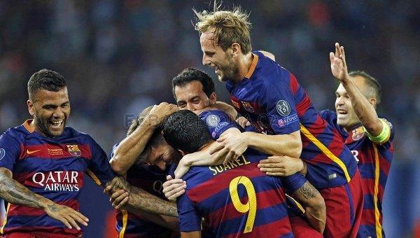 Игроки Барселоны. Архивное фото