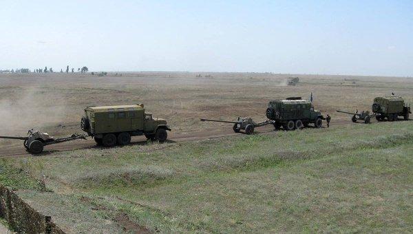 Занятия по боевой подготовке мобилизованных военнослужащих в Николаевской области