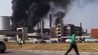 Пожар на чешском предприятии Unipetrol