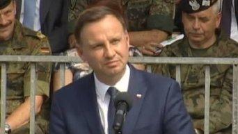 Выступление президента Польши Анджея Дуды