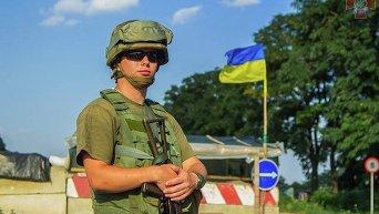 Блокпост сил АТО в Донбассе