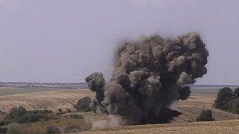 Взрыв бомб времен ВОВ в Тернопольской области