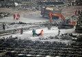 Разбор завалов после взрыва в Тяньцзине, Китай