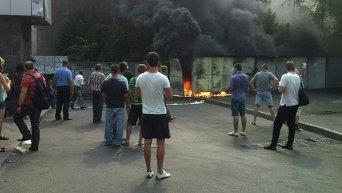 Пожар в Киеве на Лукьяновке