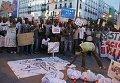 Акция протеста иммигрантов в Мадриде