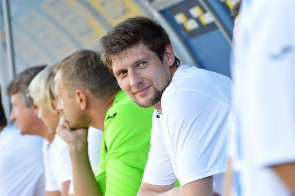 Евгений Селезнев на матче памяти футболиста Сергея Закарлюки, погибшего в ДТП