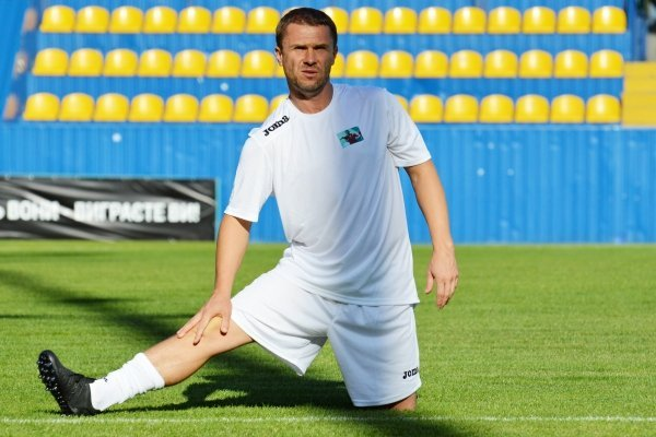 Сергей Ребров на матче памяти футболиста Сергея Закарлюки, погибшего в ДТП