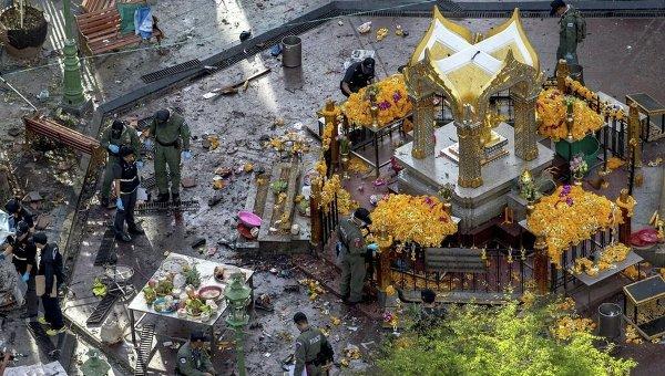 На месте теракта в Таиланде