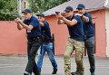 Саакашвили на тренировке патрульной полиции в Одессе