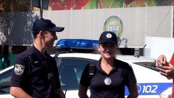 Несколько глупых вопросов для патрульной полиции Киева. Видео