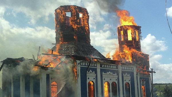 В Николаевской области сгорела церковь