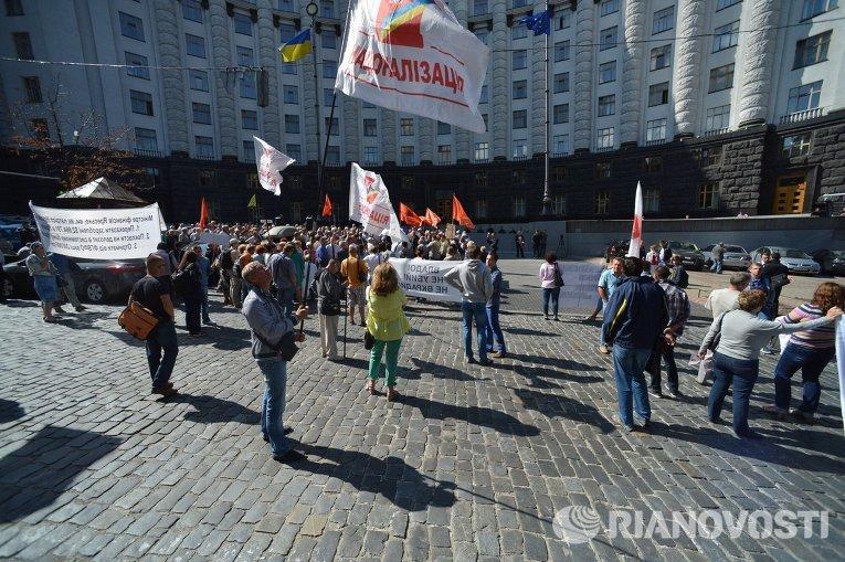 Перекрытие улицы Грушевского перед Кабмином