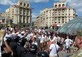 Беспорядки с участием футбольных болельщиков в Киеве на Майдане Незалежности