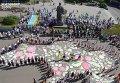 К 24-й годовщины Дня Независимости в Житомире создали живую карту Украины