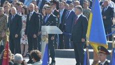 Военный марш в честь Дня Независимости в центре Киева