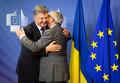 Петр Порошенко и Жан-Клод Юнкер в Брюсселе