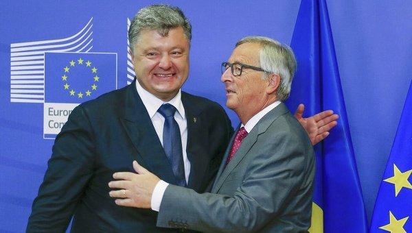 Встреча президента Петра Порошенко и главы Еврокомиссии Жана-Клода Юнкера. Архивное фото