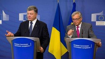 Встреча президента Петра Порошенко и главы Еврокомиссии Жана-Клода Юнкера