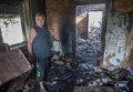 Последствия обстрела поселка Александровка в Донецкой области