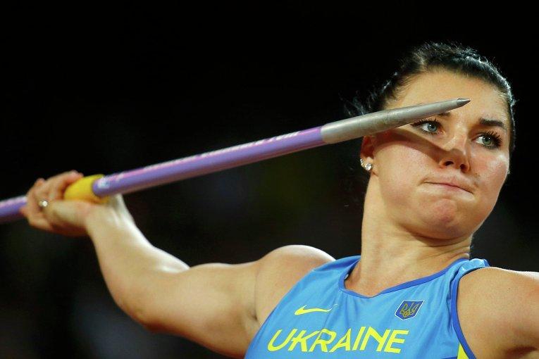 Украинская метательница копья Анна Гацко-Федусова на Чемпионате мира в Пекине