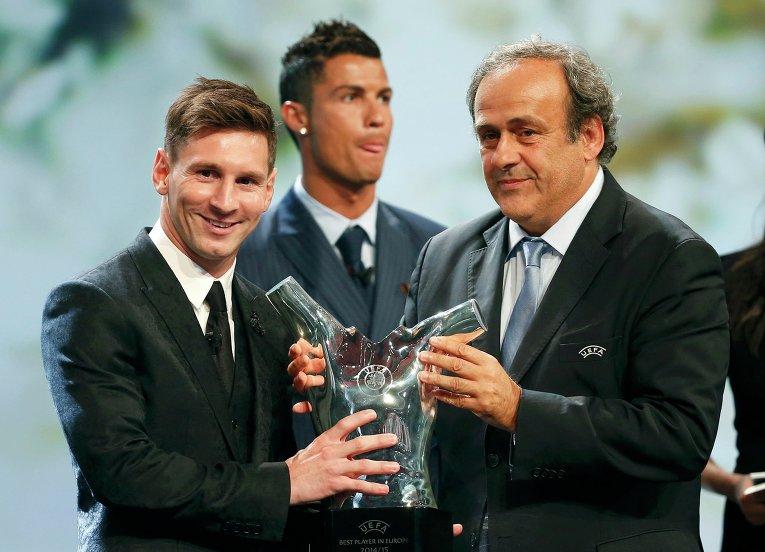 Нападающий испанской Барселоны Лионель Месси признан лучшим футболистом Европы по итогам сезона-2014/15 по версии УЕФА. Победителя, как и в предыдущие годы, определило жюри, состоящее из журналистов, представляющих все национальные ассоциации УЕФА. Церемония награждения прошла в Монако.