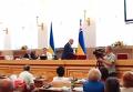 Разъяренный Москаль хлопнул дверью Закарпатского облсовета. Видео
