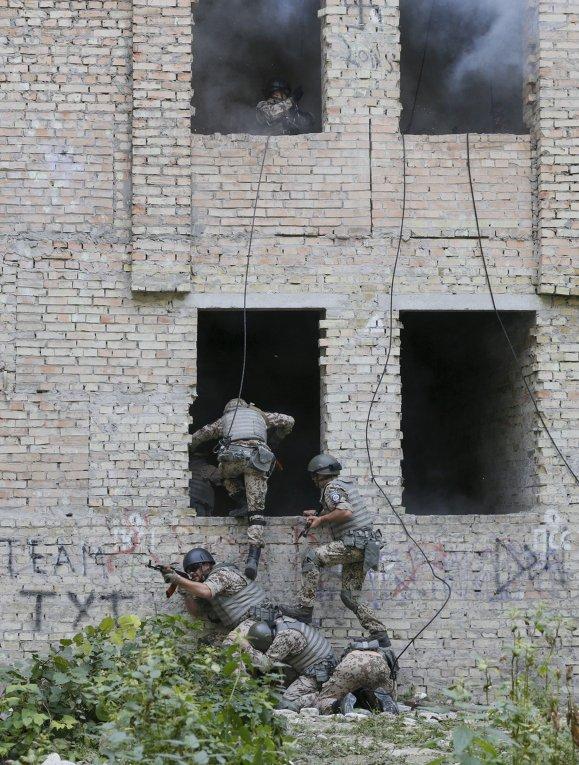 Учения батальона спецназначения МВД Киев-1