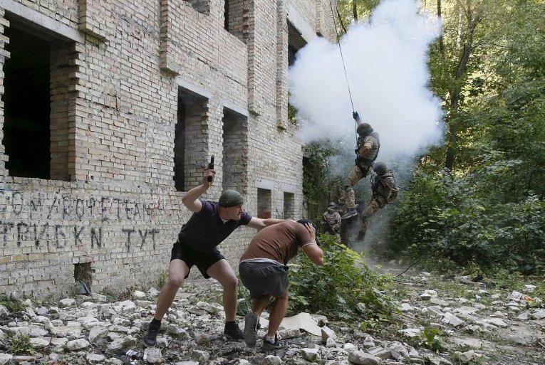 Учения батальона спецназначения Киев-1