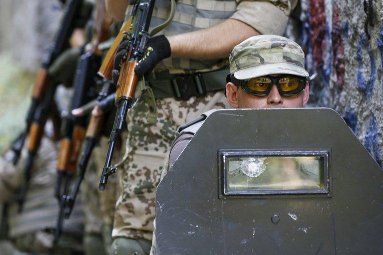Антитеррористические учения батальона Киев-1