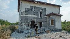 Ситуация в поселке Спартак Донецкой области