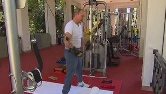 Путин и Медведев провели совместную тренировку в Сочи. Видео