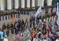 Блокирование движения по улице Грушевского у здания Верховной Рады