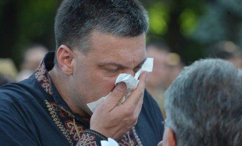Олег Тягнибок на митинге под Верховной Радой 31 августа 2015 г.