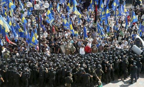 Столкновения под Верховной Радой Украины 31 августа 2015 г.