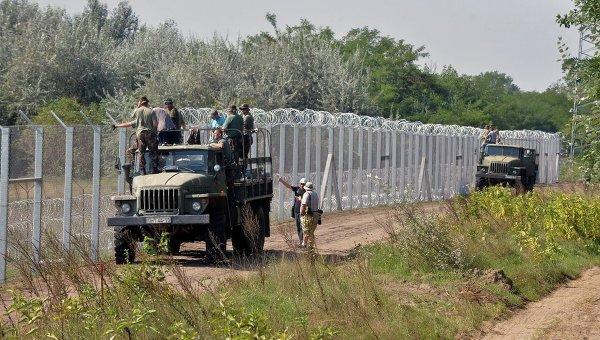 Ограждение на южной границе Венгрии с Сербией