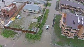 Затопленный Уссурийск с высоты птичьего полета