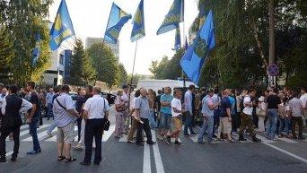 Свободовцы пикетируют Голосеевский райотдел милиции. Архивное фото