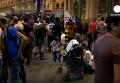 В Будапеште закрыли вокзал из-за наплыва мигрантов. Видео