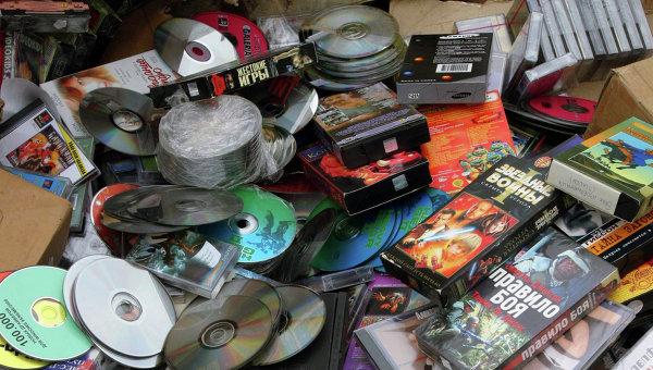 Уничтожение партии контрафактных дисков