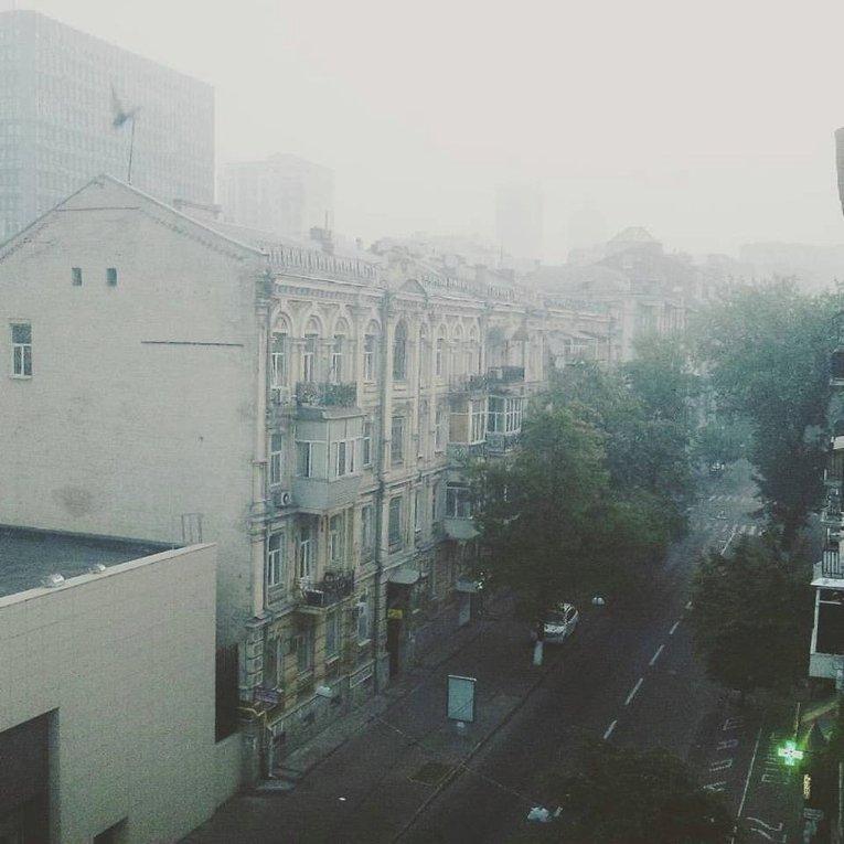 Дым в Киеве из-за лесного пожара