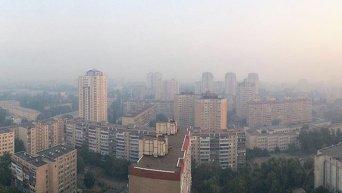 Дым в Киеве. Архивное фото