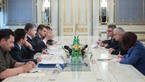 Встреча Петра Порошенко и Джека Рида